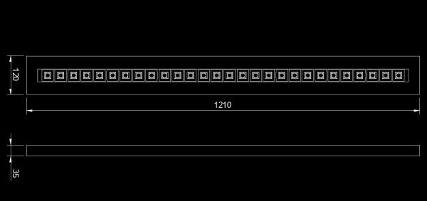 Wood Linear 120 LED