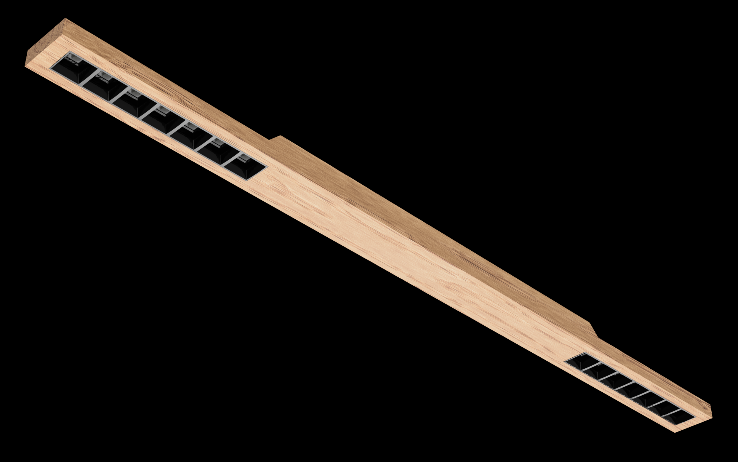 Wood Linear LED 70 - Wood LED Wood