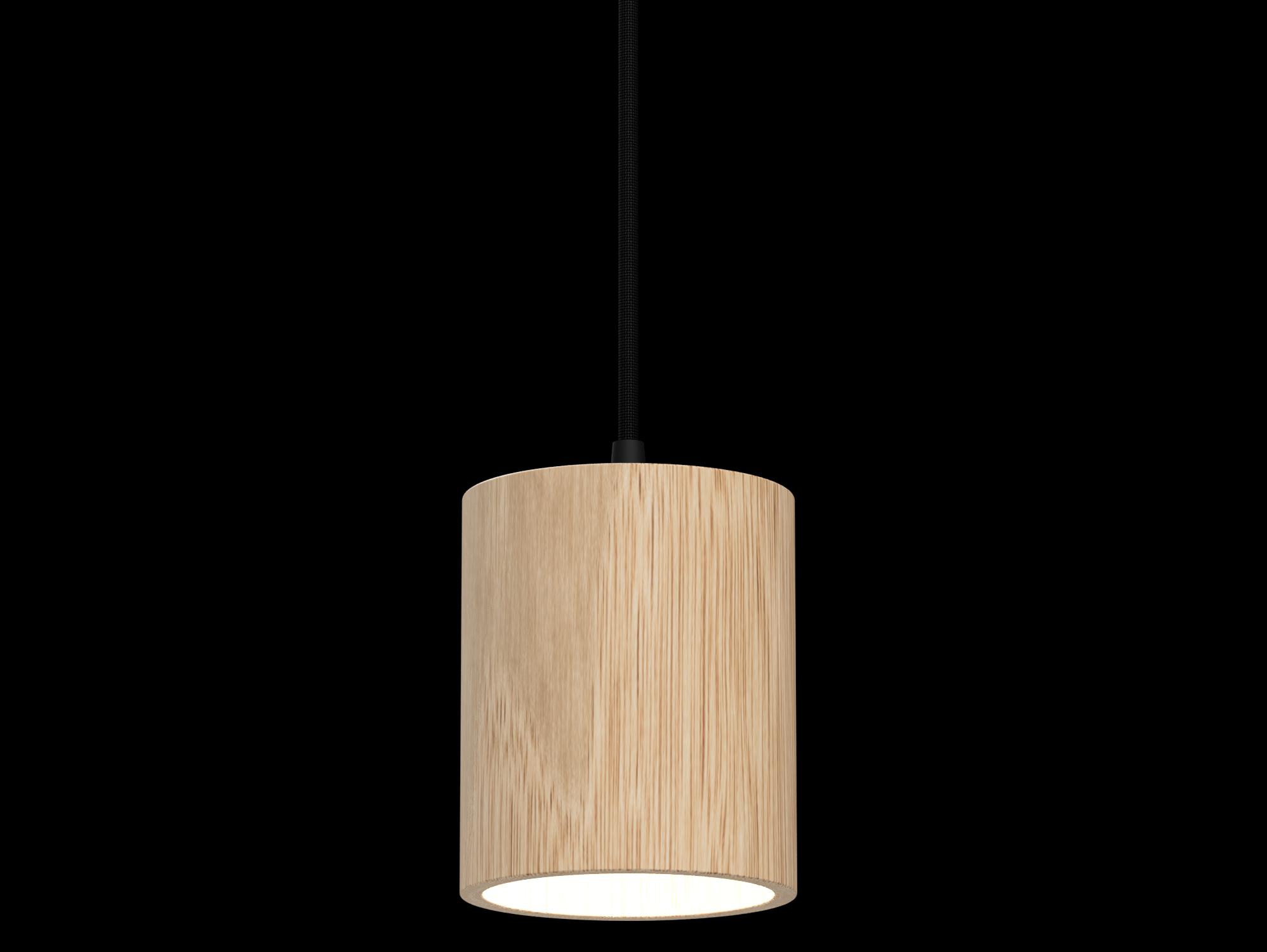 Wood Cylinder LED - Wood LED Wood