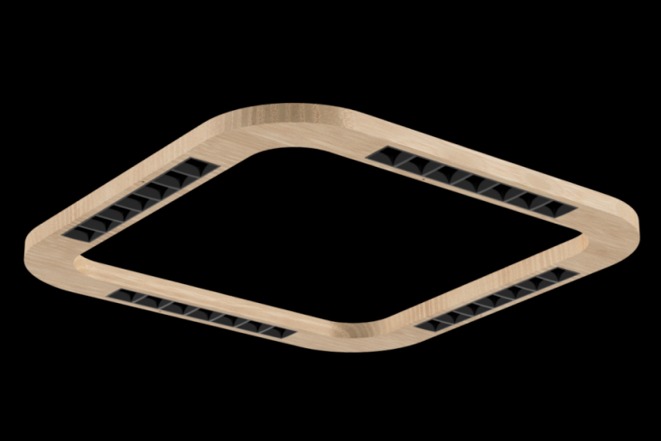 Wood Linear LED Square - Wood LED Wood